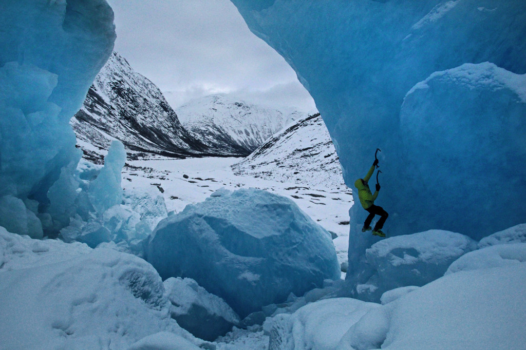ice climb nigardsbreen