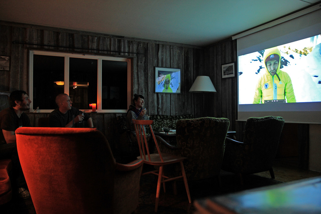 cinema at jostedal winter lodge