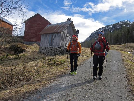 Ski touring, Jostedalen, Norway