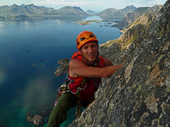 Lofoten classic rock climbing all day and night long.
