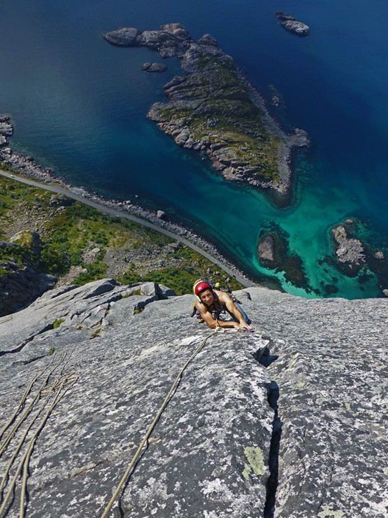 Another classic route on Presten. Lofoten Islands.